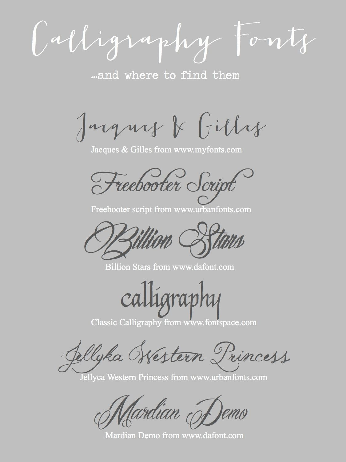 Calligraphy On Your Computer Tutorial  Fonts And Printables