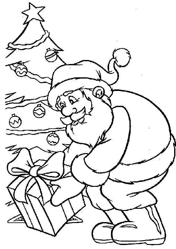 Coloring Page Christmas Santa Claus