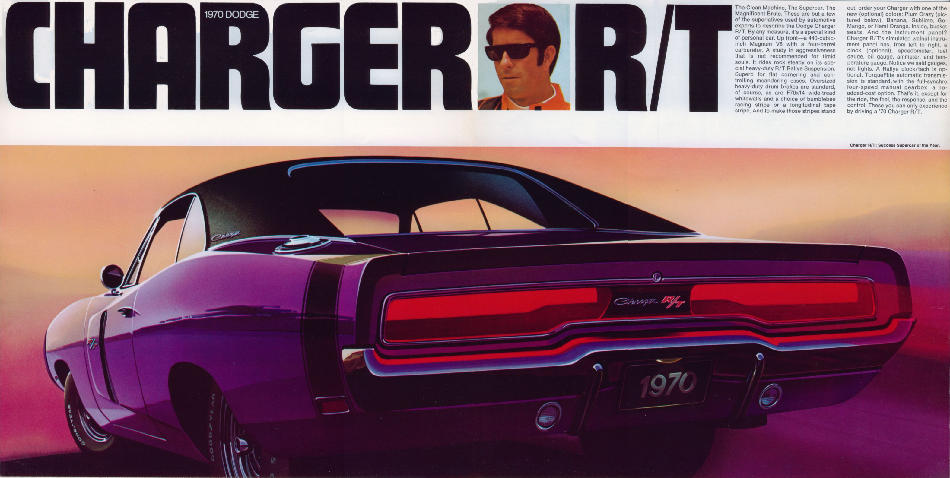 Vintage dodge charger ad mopar muscle plum crazy