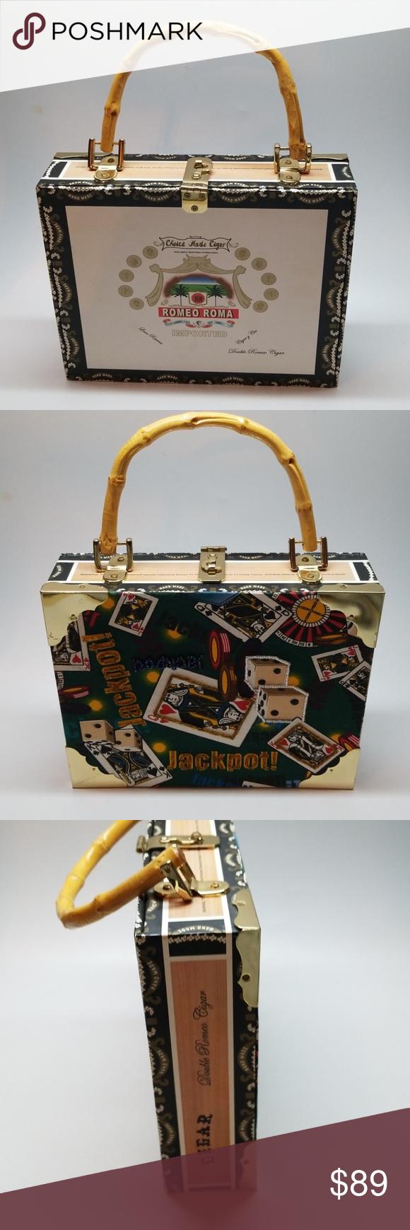 Cigar Box Handbag Romeo Roma Casino Purse Beautiful