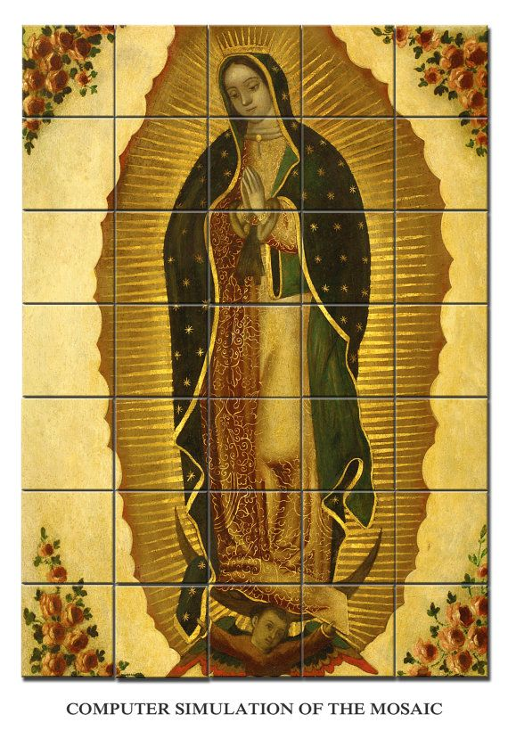 Catholic wall art - Our Lady of Guadalupe - Virgin Mary wall art ...