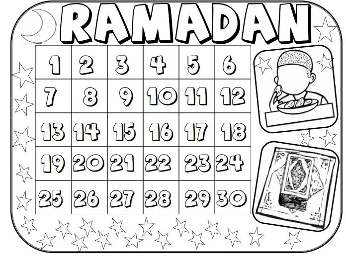 Ramadan Calendar Printables : Ramadan kids calendar for pinterest