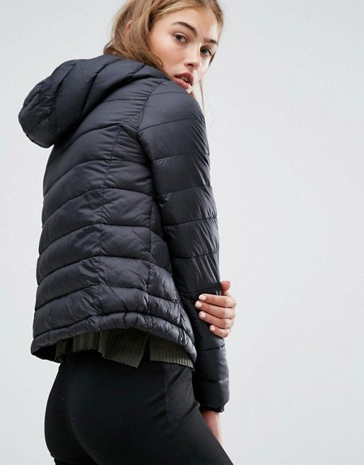 Pull&Bear | Pull&Bear Light Quilted Hooded Jacket