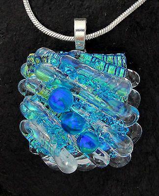 Glass Pendants Glass Handmade Dichroic Glass Fused Glass Jewelry Dichroic Glass Fused Glass Dichroic Glass Necklace Dichroic Glass