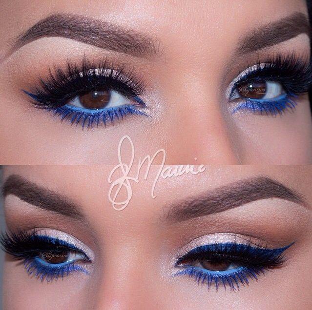maquillage simple eye liner bleu. Black Bedroom Furniture Sets. Home Design Ideas