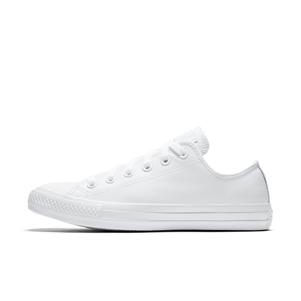 8724d8b5570c Converse Chuck Taylor All Star Mono Leather Low Top Shoe Size 11.5 (White)