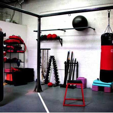Awesome boxing gym set up! using your garage space for fitness is a