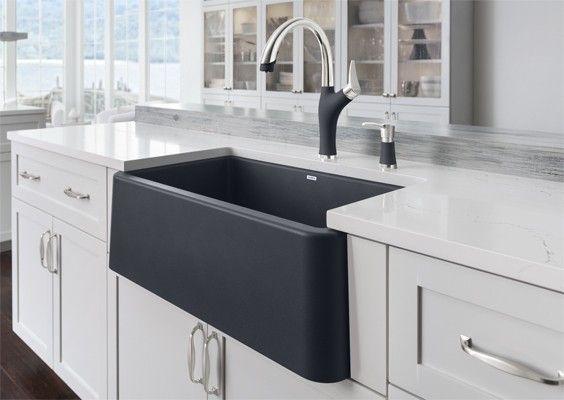 Blanco Ikon Apron Front Sink Quartz Composite Apron Front Sink