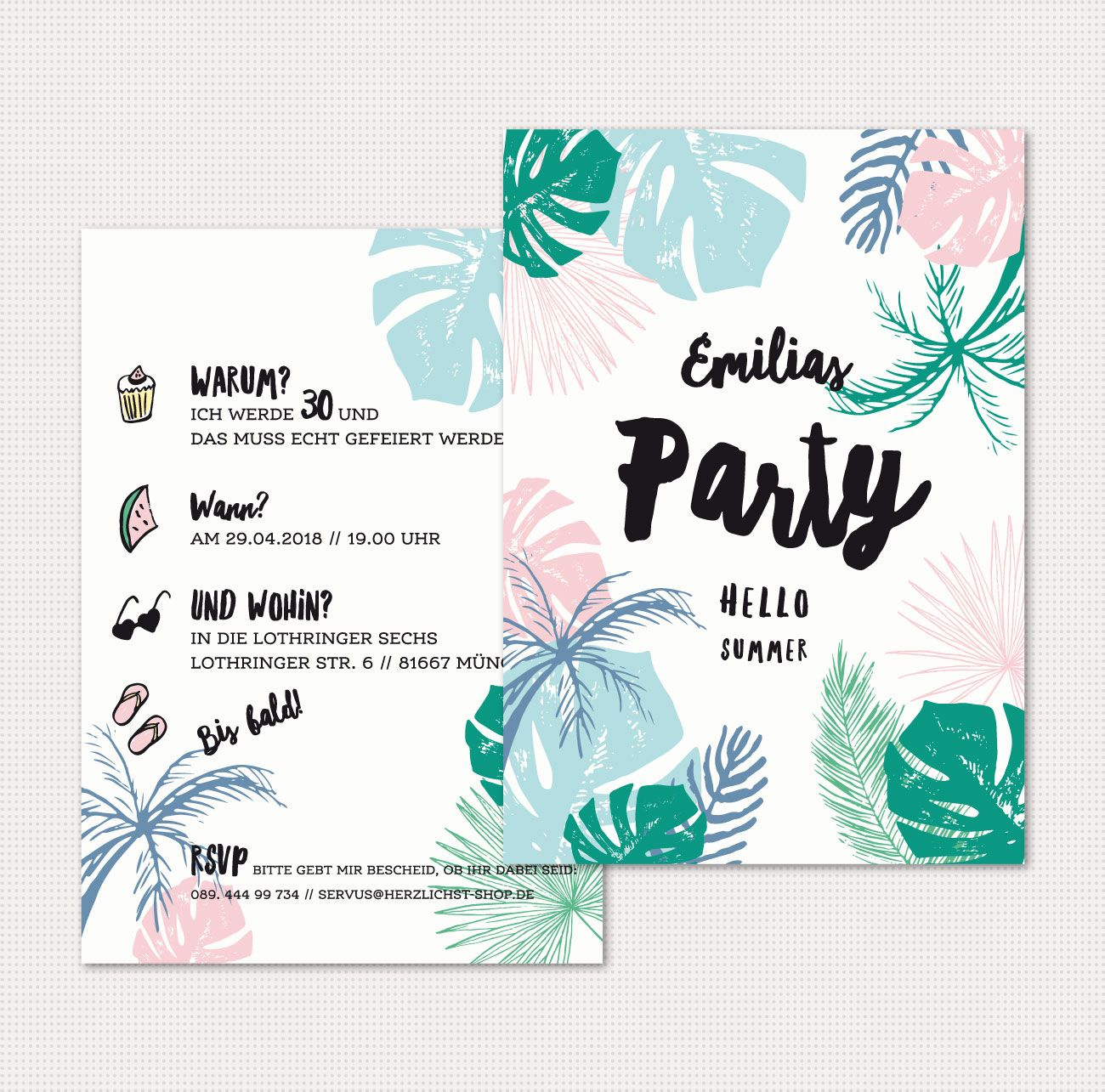 Einladung Geburtstagskarten Hello Summer Geburtstagskarten Hello Summer Geburtstagsplakat Jungle Geburtstagskarte Einladung Geburtstag Basteln Einladungen