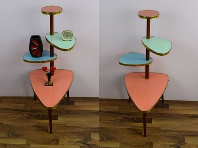 Vintage flower table, bench, side table, flower stand, 4 levels ...
