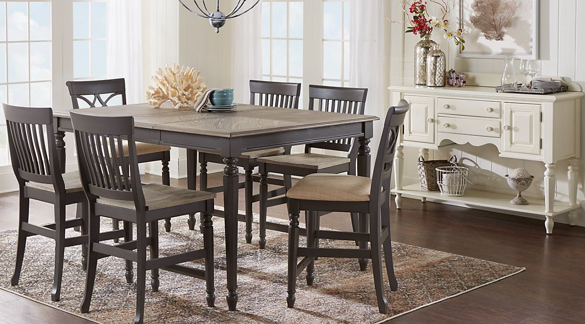 Cindy Crawford Home Ocean Grove Gray 5 Pc Counter Height Dining Room Rooms To Go Dining Room Sideboard Beautiful Dining Rooms Dining Room Sets