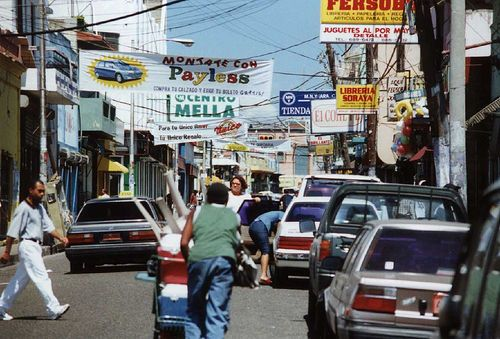 Streets Of Dominican Republic Bustling Streetsof The Capital Today