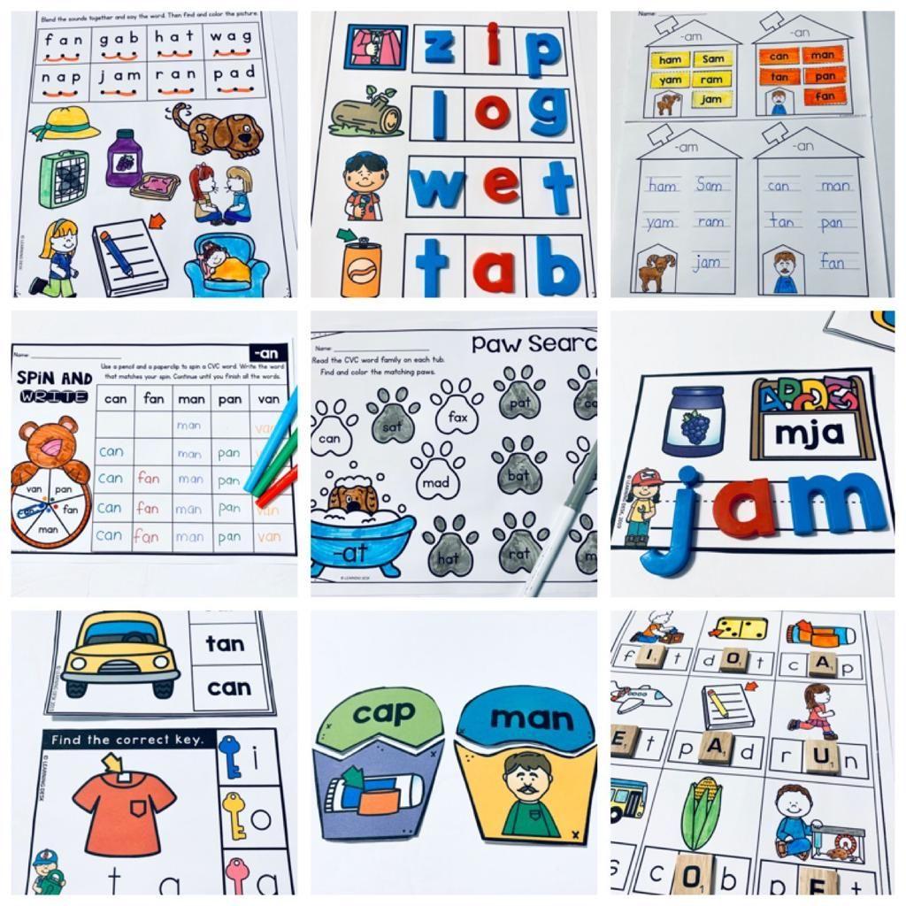 Cvc Words Worksheets Short Vowels Distance Learning Packet