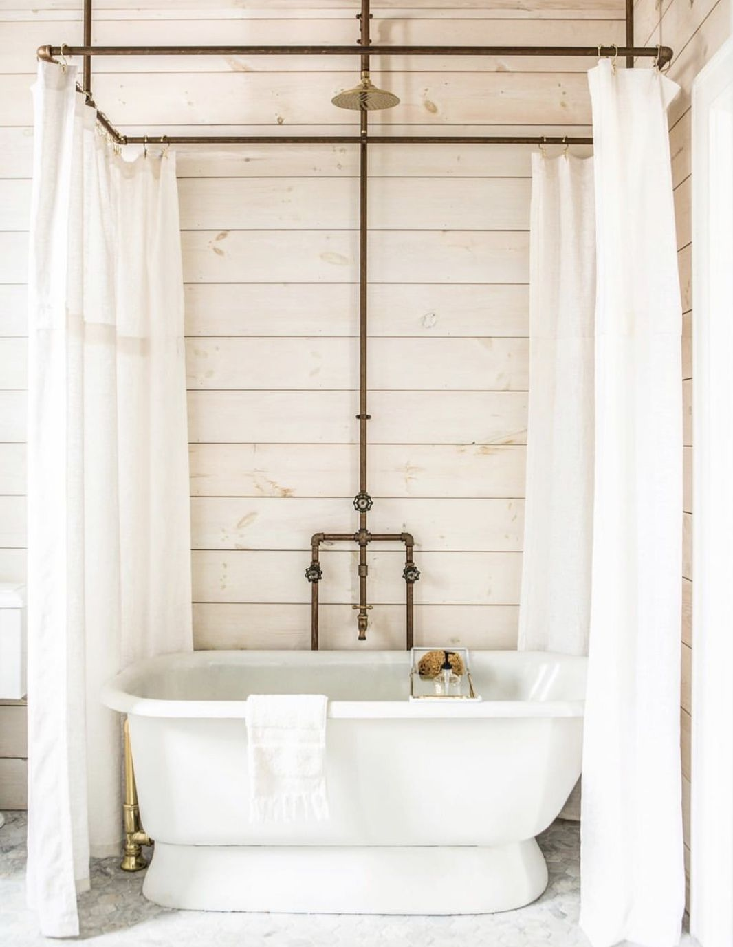 Pin By Jim Dye On Bathroom Diy Shower Curtain Diy Curtain Rods
