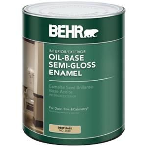 Behr 1 Qt Deep Base Semi Gloss Enamel Oil Based Interior Exterior Paint 383004 At The Home Depot Mobile Reviews Say It Exterior Paint Painting Trim Behr