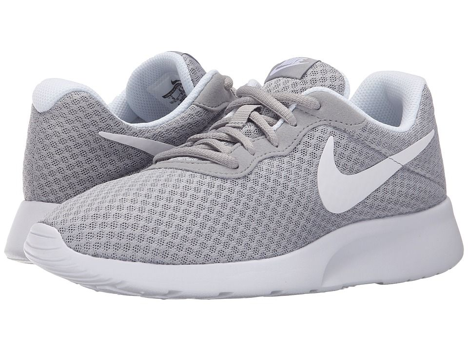 online retailer 31462 efff1 Nike Tanjun Women s Running Shoes Wolf Grey White