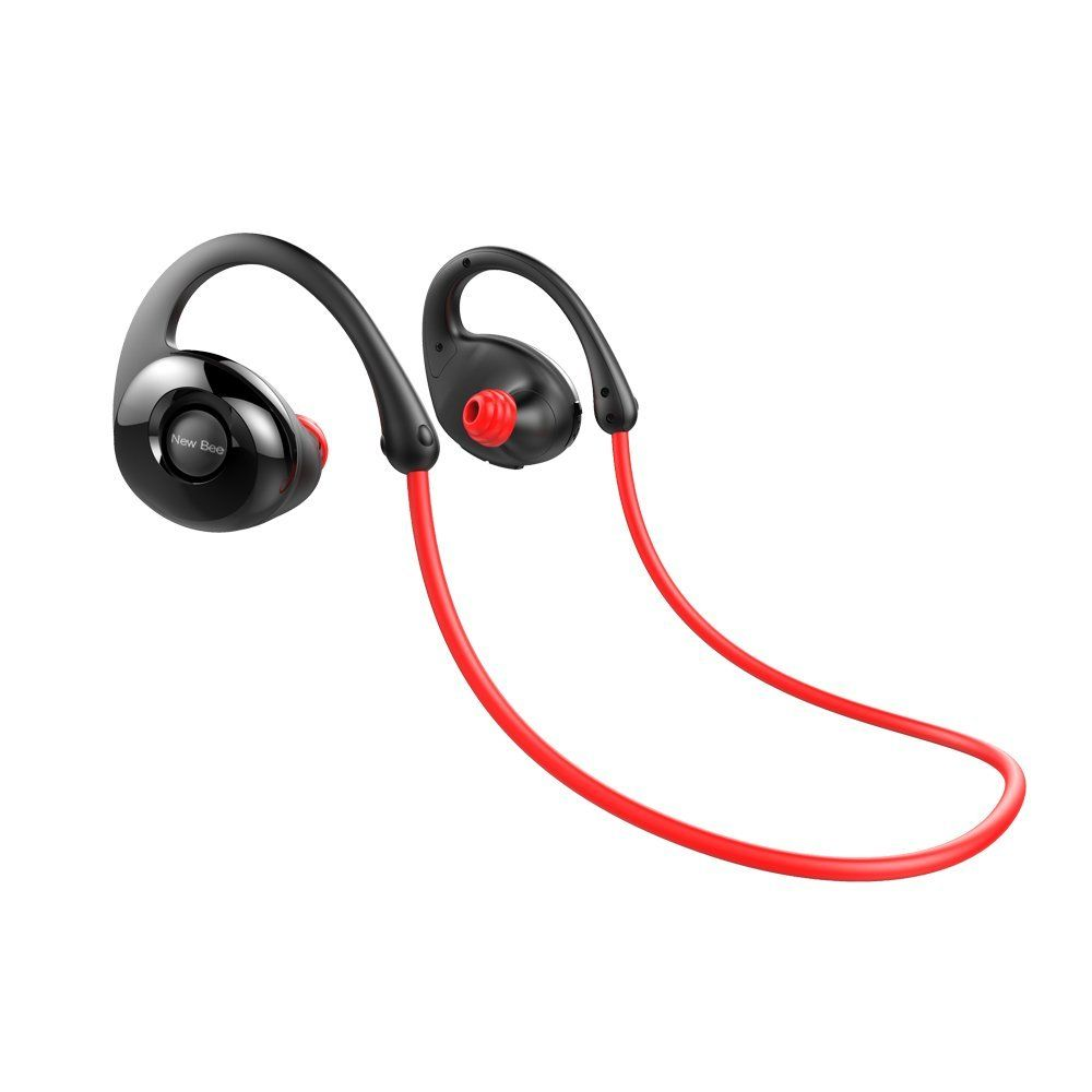 Magnetic Bluetooth 4.1 Headphones Waterproof Lightweight Gym Sport in-Ear Headsets with Mic HD Stereo Earbud