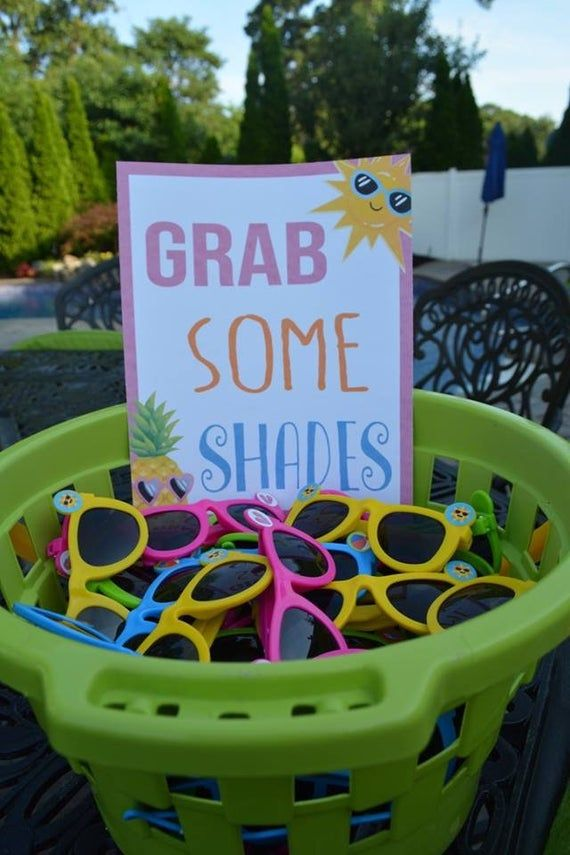 Pool Party Signs | Etsy