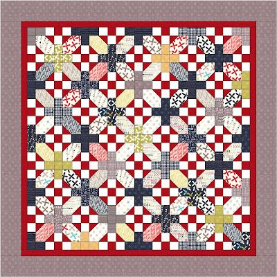 """I have a Layer Cake that might work great for this pattern. Moda Bake Shop: """"Nough Said"""" Layer Cake Quilt"""