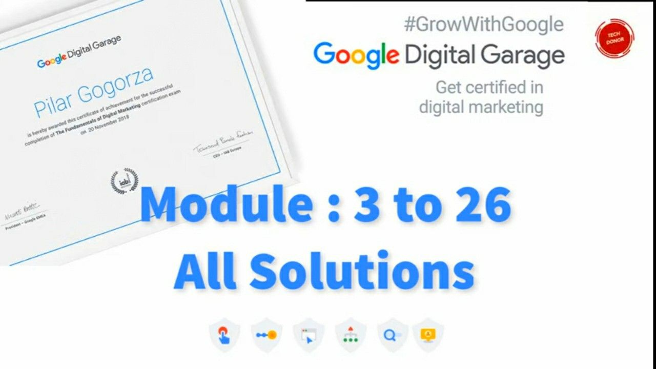 Ready For Your Google Digital Garage Exam Answers 2020 Lesson 3