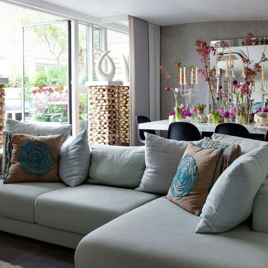 Cosy living room design ideas Seat cushions, Pillows and Living rooms