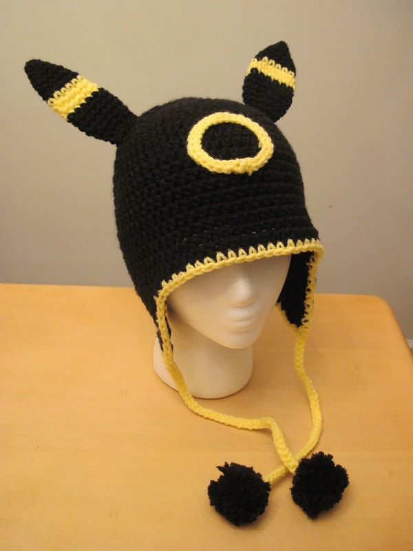 Reserved Pokemon Umbreon Earflap Hat Jacob Pinterest Häkeln