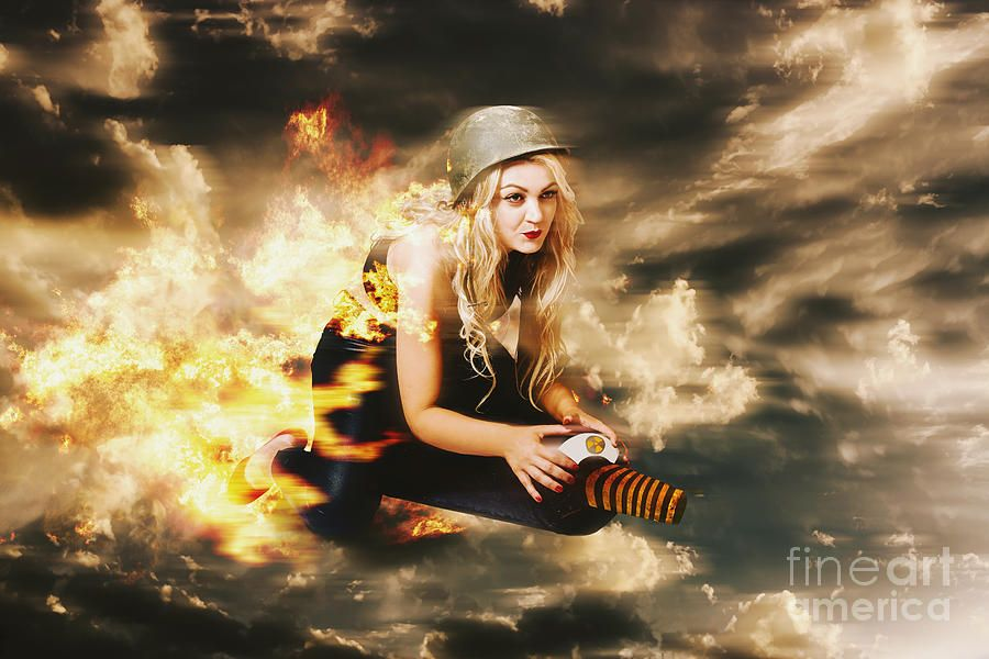 Kamakazi Pin-up Girl On Atomic Bomb Photograph by Jorgo Photography ...
