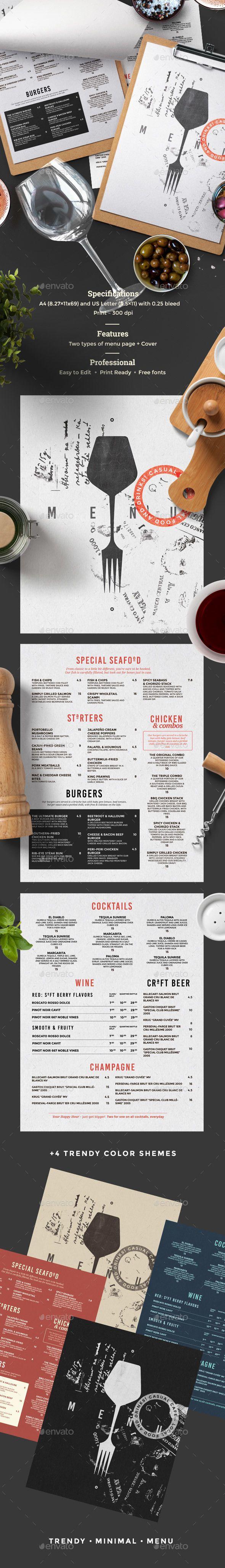 Restaurant Menu | Tarjetas
