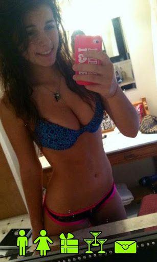 Busty teen in shower