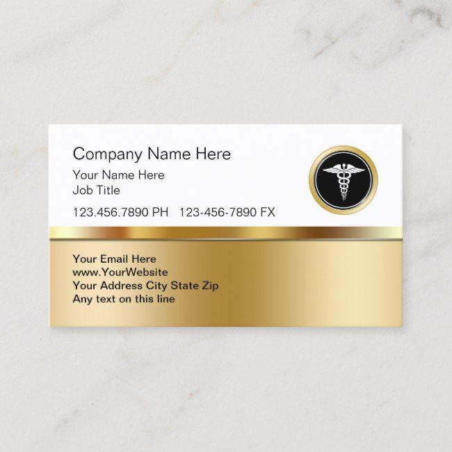 Classy Medical Business Profile Business Card Zazzle Com