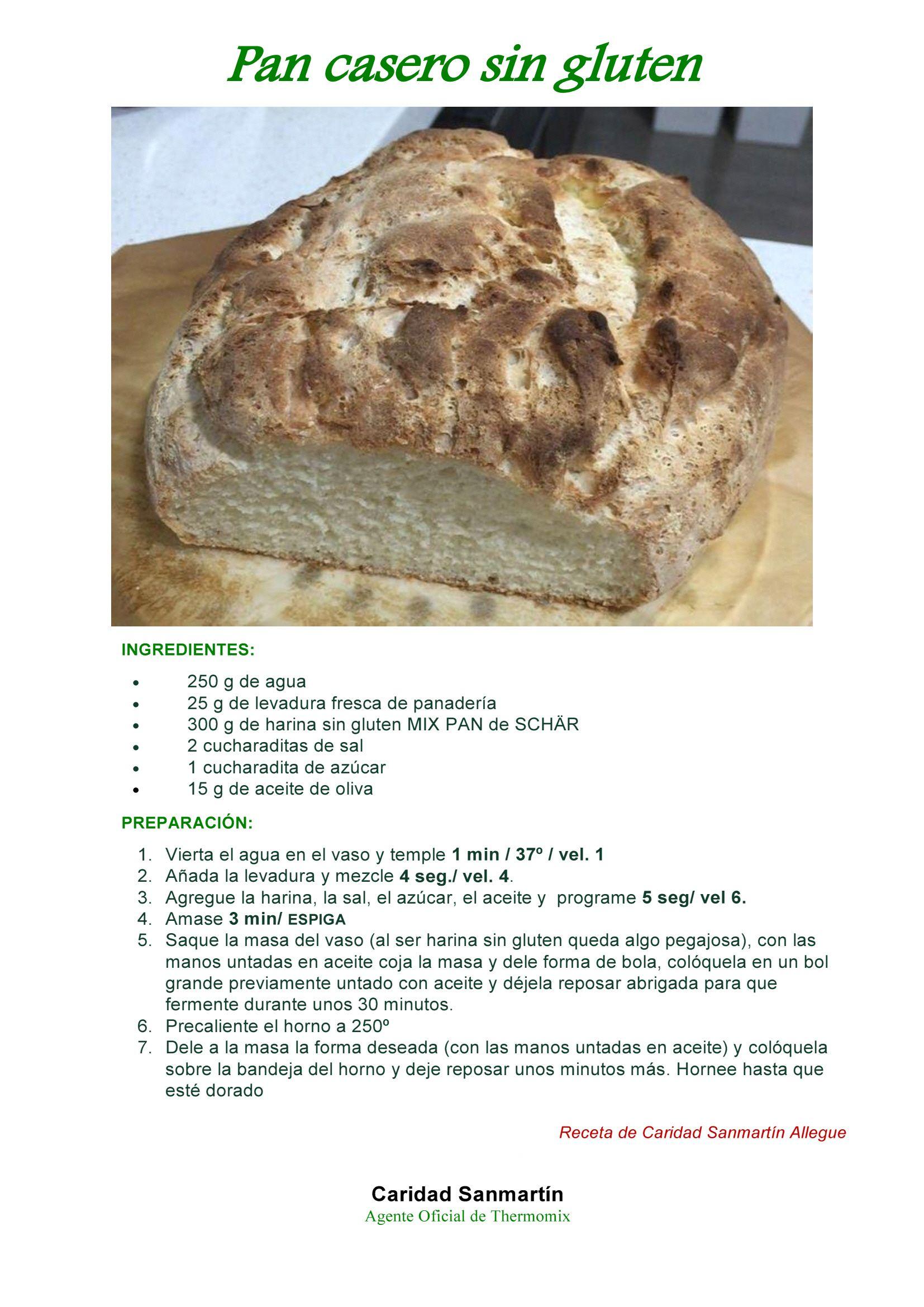 Recetas Para Celiacos Con Thermomix Pan Casero Sin Gluten
