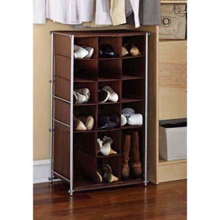 Shoe Racks And Organizers Interesting Mainstays Shoe And Boot Rack Silverbrown $2488  Wish List Inspiration Design