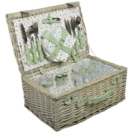 Out Of Stock!  Luxury wicker Picnic Set for 4 - pack a perfect picnic with us this summer! Picnic hamper, picnic basket