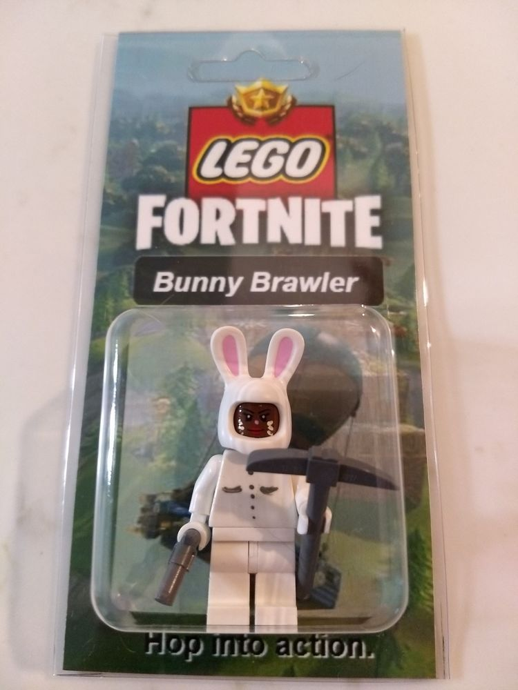 New Lego Custom Bunny Brawler Minifig Fortnite Battle Royale Skins
