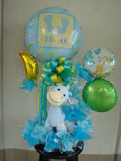 Pin De Abby En Decoracion Con Globos Globos Recuerdos De Baby Shower Centros De Mesa De Baby Shower