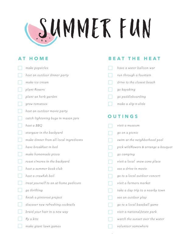 Summer Fun Bucket List- great ideas to squeeze all the fun