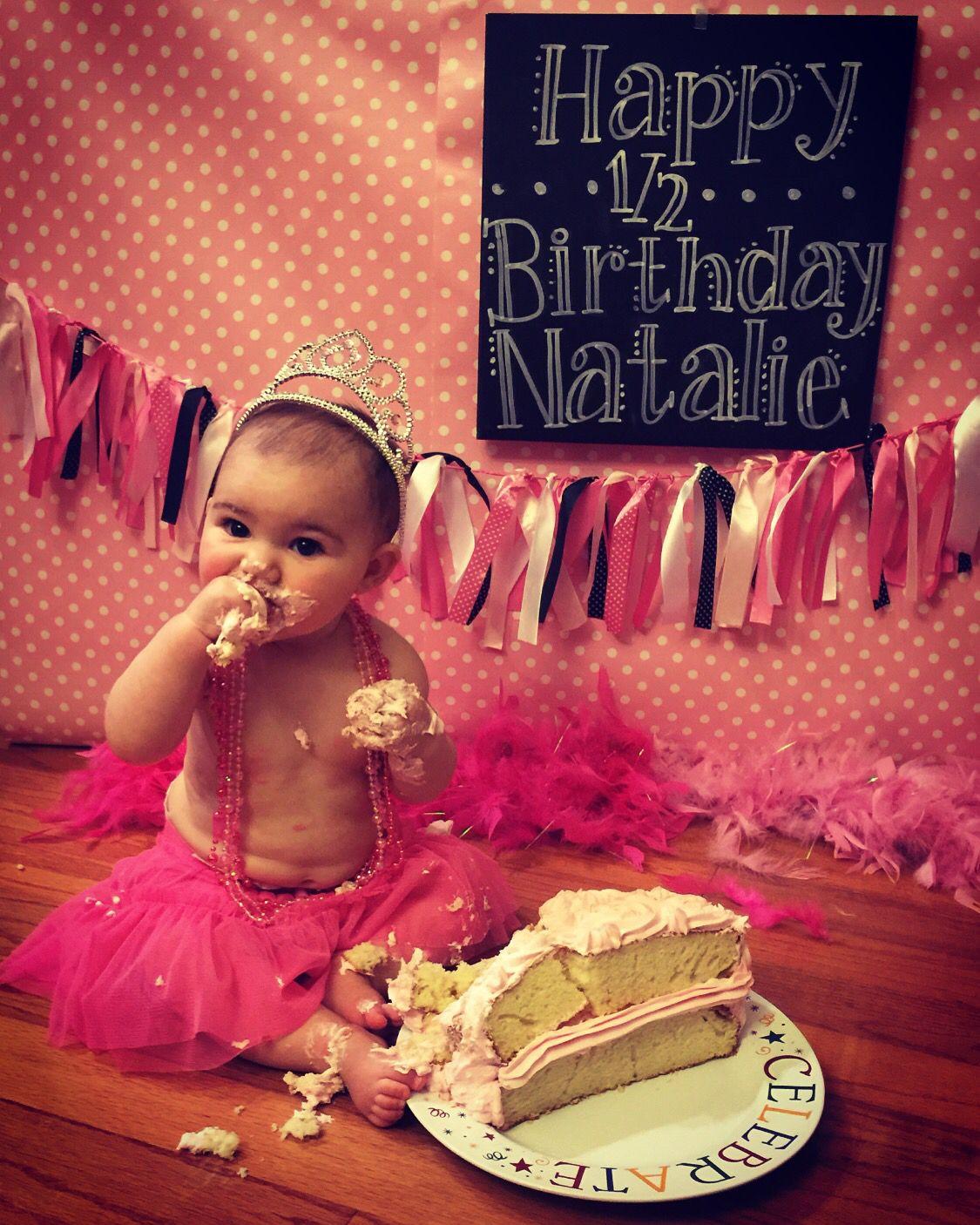 Half Birthday Cake Smash Princess Tiara 6 Months Diy Photography