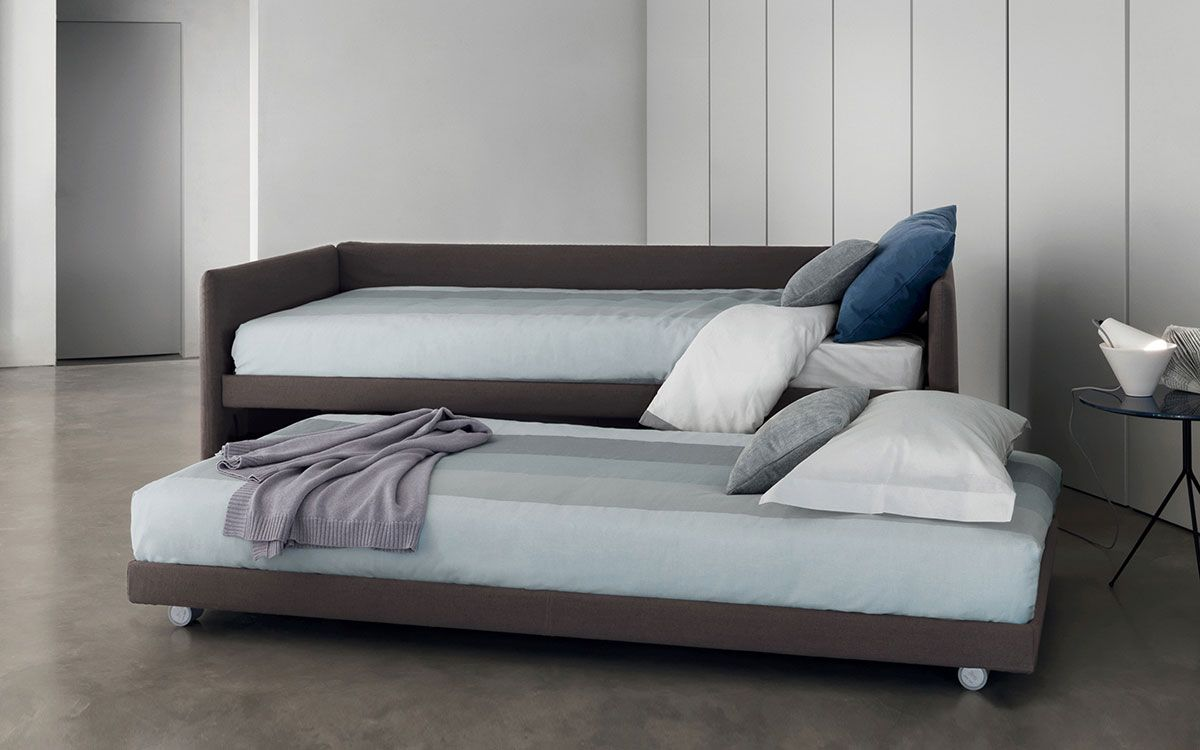 Flou - Duetto Beds 207/217x98/113 | beds, bedsides,pouf, bench ...