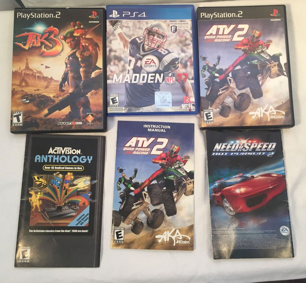 lot of video game cases instructions jak3 atv 2 need for speed 2 rh pinterest com Game Manual PDF Game Instruction Manuals
