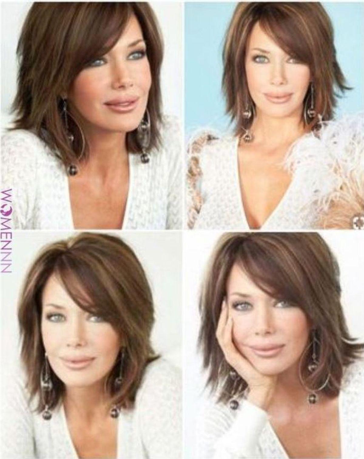 Felhosszu Noi Frizurak 50 Felett Frizurakepek Thick Hair Styles Medium Hair Styles Short Hair Styles