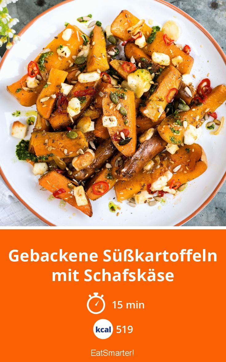 Photo of Baked sweet potatoes with sheep's cheese