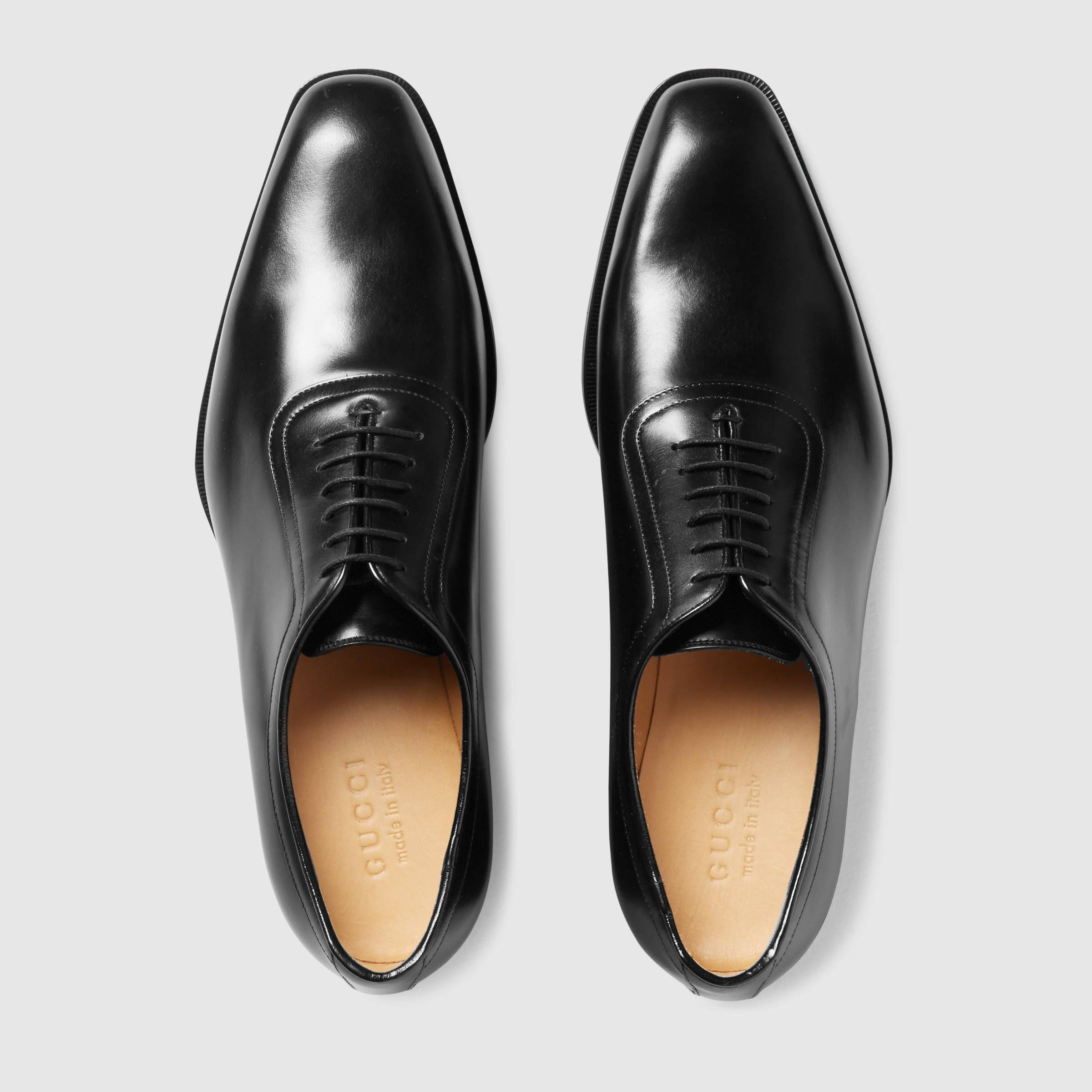mens black leather lace up shoes