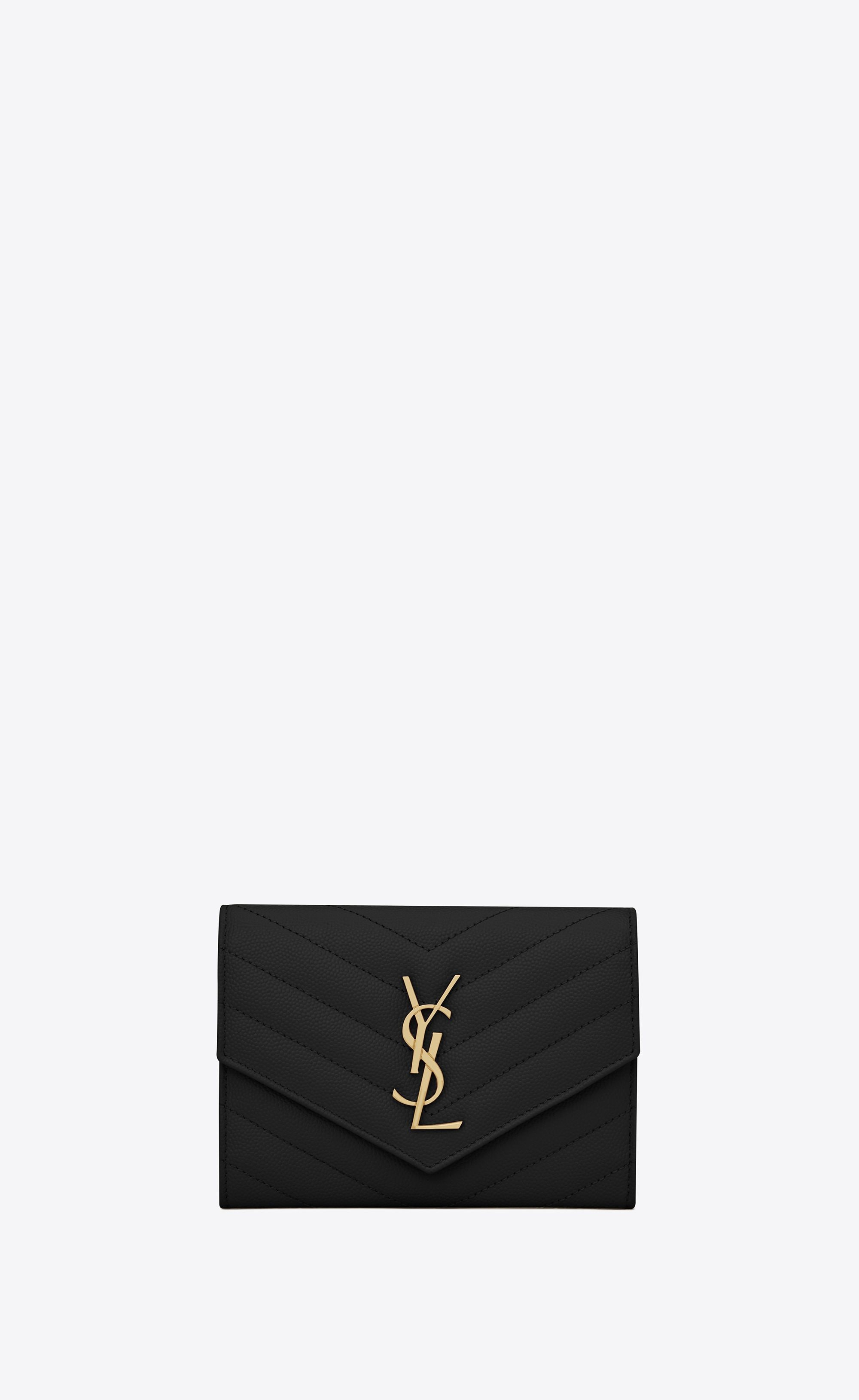 Saint Laurent Monogram Passport Case In Black  2005290ec168f