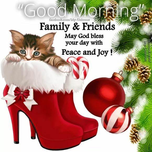 Christmas Good Morning Quotes: Good Morning Christmas. Greetings