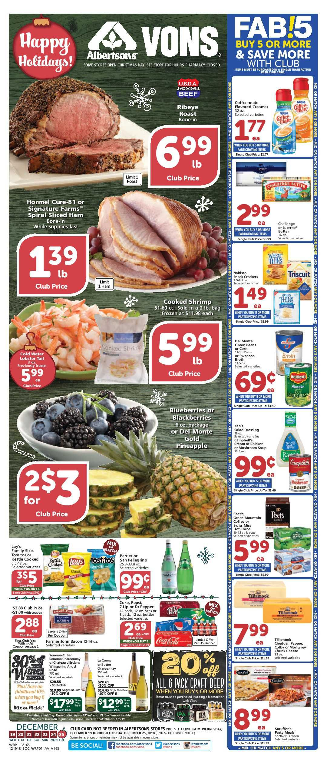 Vons Weekly Ad Flyer 03/11/20 03/17/20 Grocery, Weekly