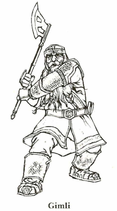 Coloring Page Lord Of The Rings Lord Of The Rings Coloring Pages