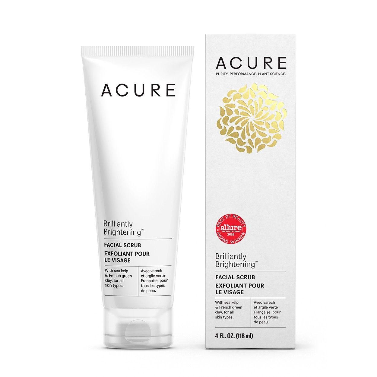 Acure Brilliantly Brightening Facial Scrub 4oz