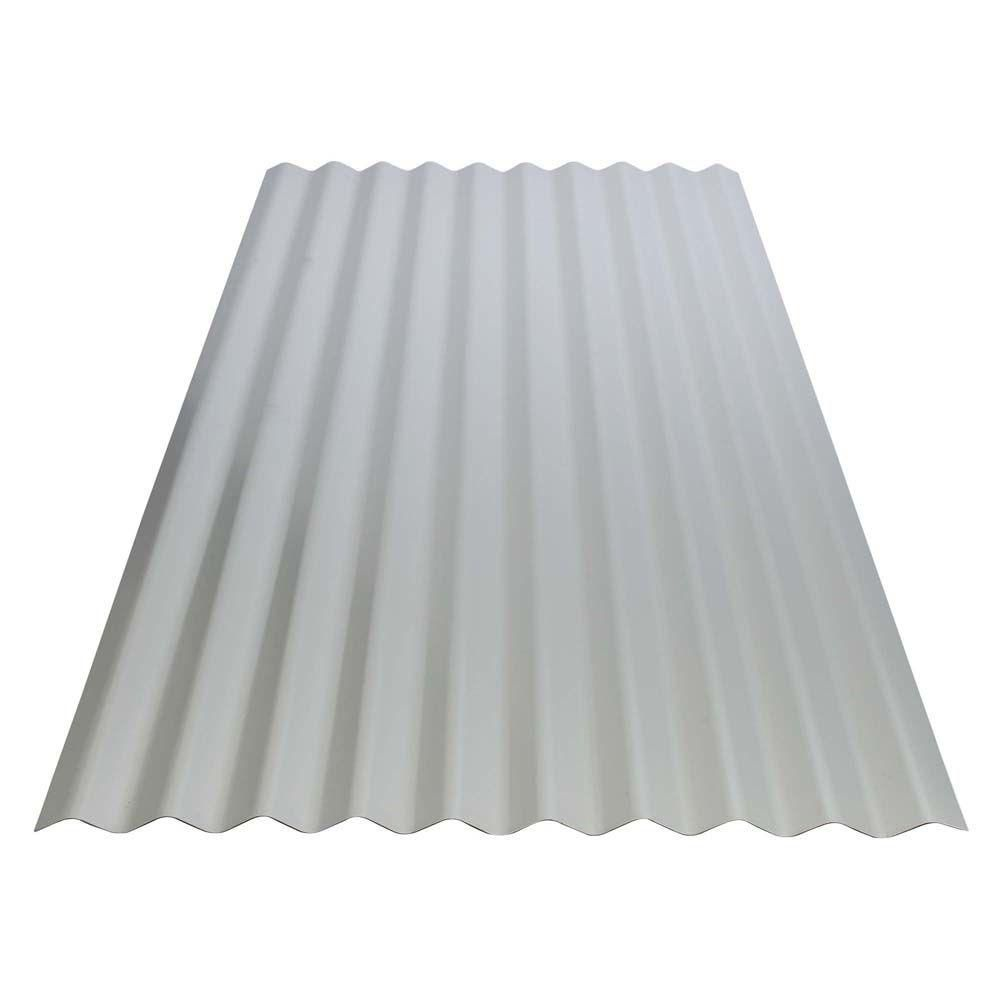 Gibraltar Building Products 8 Ft Corrugated Galvanized Steel Utility Gauge Roof Panel 13513 The Home Depot Steel Roof Panels Roof Panels Corrugated Roofing