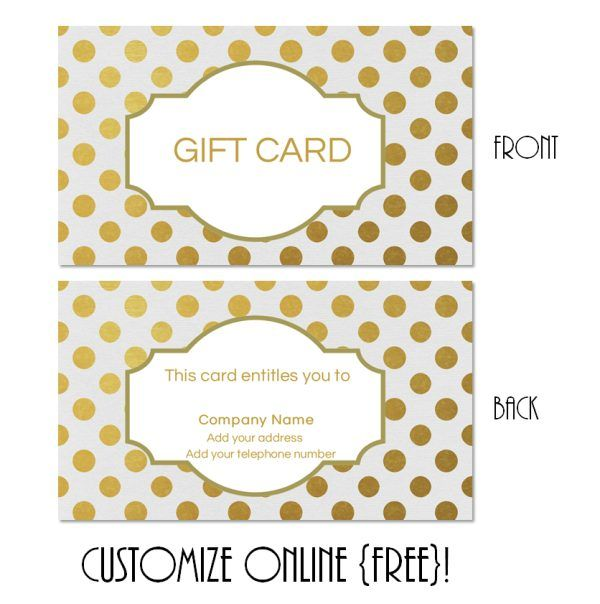 Free printable gift card templates that can be customized online - gift card certificate template