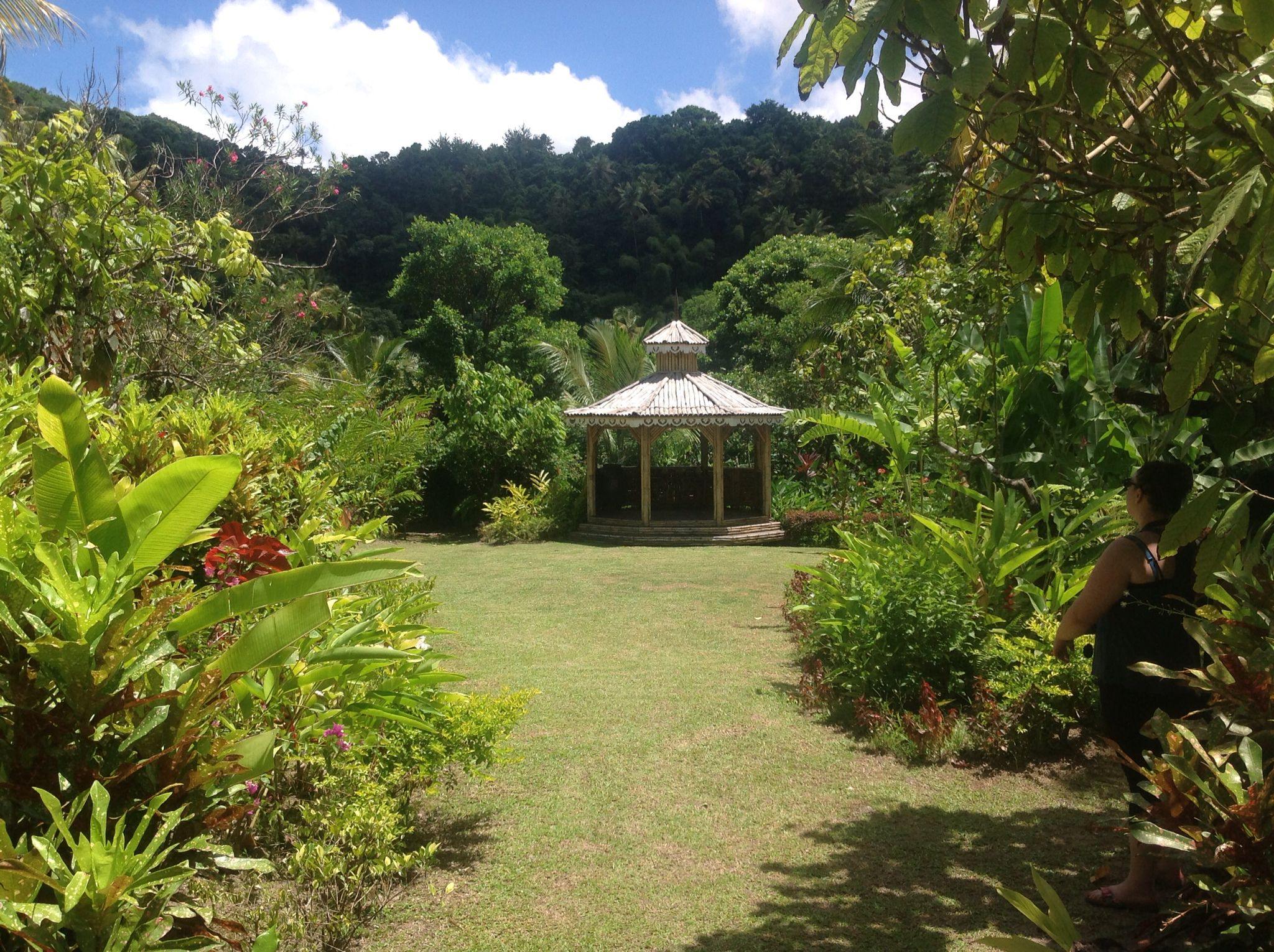 Gazebo at Fon Doux Resort and Plantation just outside of Soufriere St. Lucia